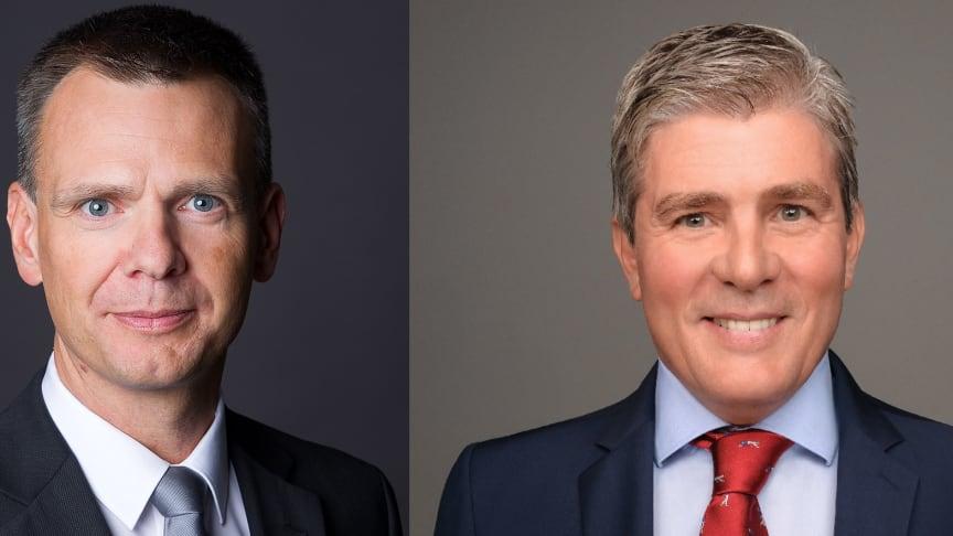 Verstärkung für Deutsche Glasfaser: Raimund Winkler (l.) und Jochen Mogalle (r.) ergänzen das Team der Geschäftsführung (DG).