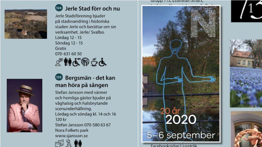 Stadsvandring i Jerle stad och scenunderhållning med Stefan Jansson och vänner är några av programpunkterna i årets Ljusstråk.