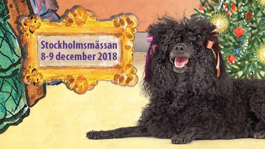 """Temat på årets Stockholm Hundmässa är """"Prick firar jul"""" baserat på Elsa Beskows sagor."""