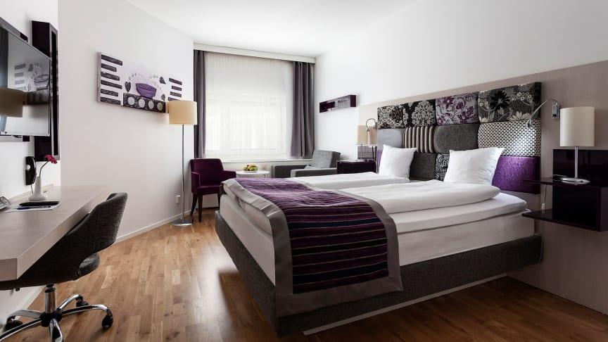 Hotellet har 183 moderna rum