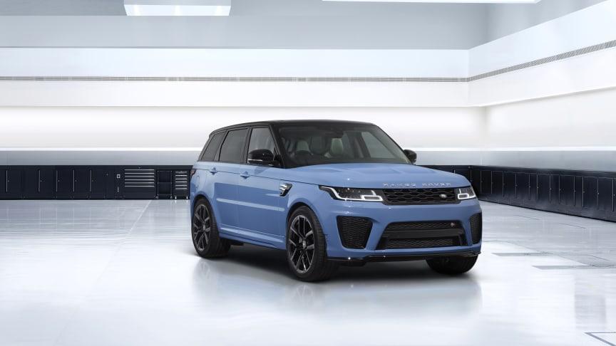 Range Rover Sport SVR Ultimate Edition fra SV Bespoke fremhever Land Rovers raskeste  og kraftigste SUV med eksklusive fargekombinasjoner og detaljer