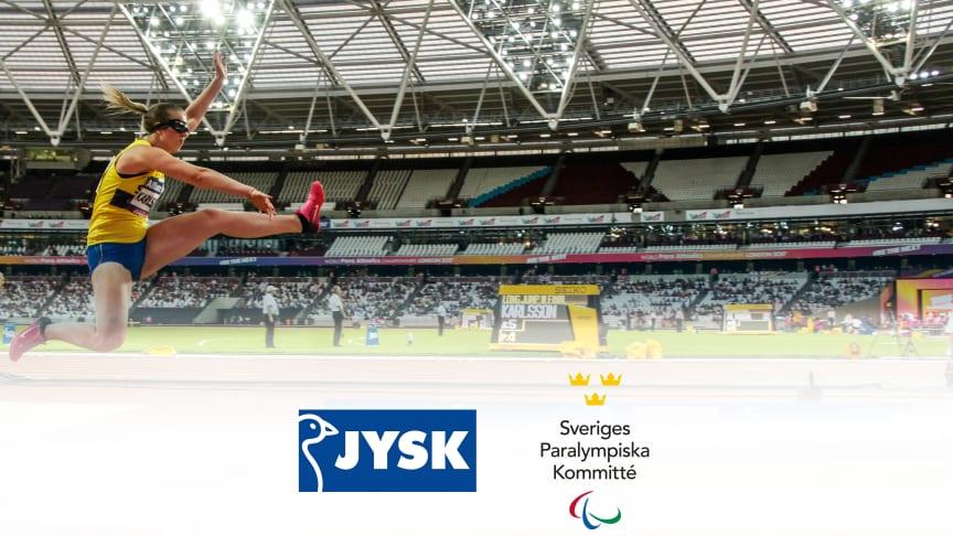 Längdhopparen Victoria Karlsson i samband med World Para Athletics i London 2017.