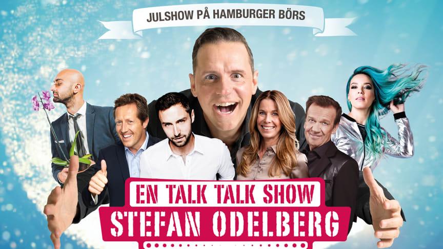 """Snart dags för premiär av  """"En Talk Talk Show"""" - på Hamburger Börs med Stefan Odelberg och gästerna Måns Zelmerlöw, Jonas Björkman, Magdalena Forsberg och Björn Skifs."""