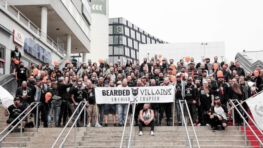 Skäggets nationaldag firades i Stockholm i september med en stor skäggparad