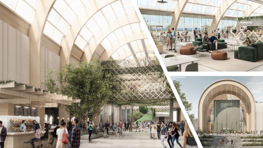 """Elmias nybyggnation har fokus på """"green tech"""" och nya upplevelsebaserade ytor för besökare och utställare. En ny mässhall på 9 000 kvadratmeter, sammanbindande mässtråk och restaurang ingår i projektet."""