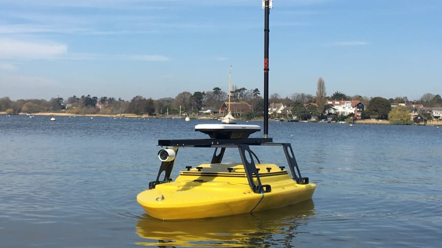 The GeoPulse USV will be demonstrated on the water throughout Ocean Business