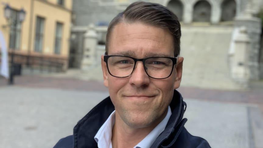 Jonas Berg, tillträdande säkerhetschef i Helsingborgs stad.