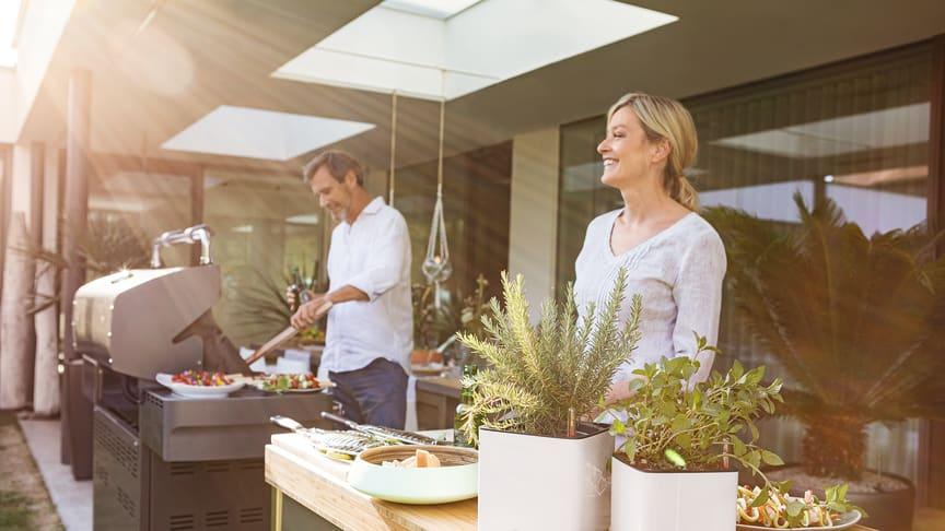 Kochen, Wohnen, Leben unter freiem Himmel