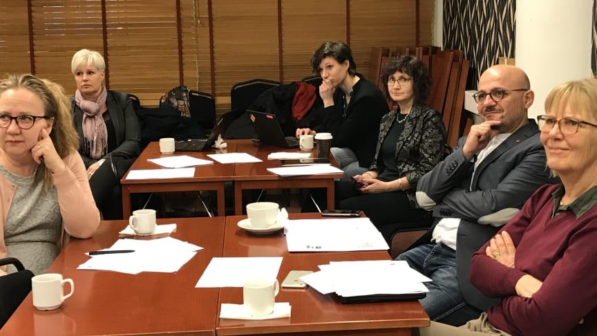 Från vänster till höger: Catharina Centerfjäll (Örebro kommun), Ingela Hagström, Milena Kraft, Ilona Szatmari Waldau, (Uppsala kommun)Murad Artin (Örebro kommun), Marie Trollvik (SKL)