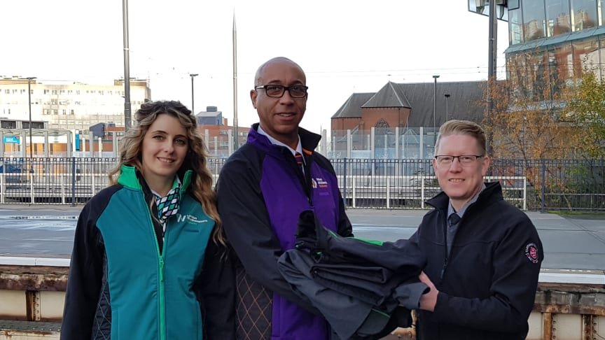 Staff from London Northwestern Railway and West Midlands Railway hand over uniform to the Salvation Army