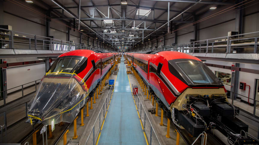 ILSA's ETR1000 trains that will maintained by Hitachi Rail in Madrid