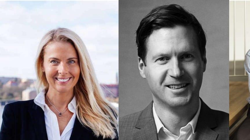 Ann Hellenius, Niklas Angergård and Jan Lundborg
