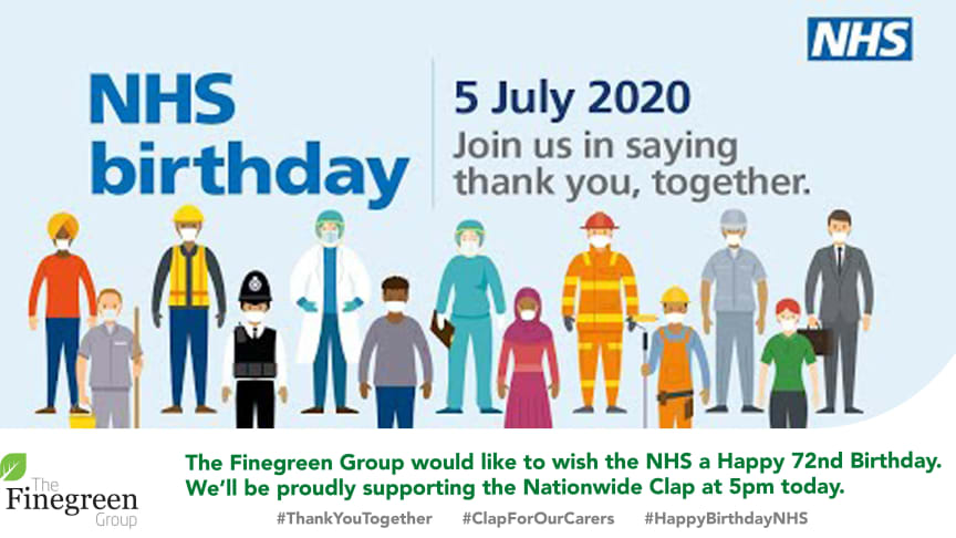 The Finegreen team would like to wish the #NHS a very happy 72nd birthday.