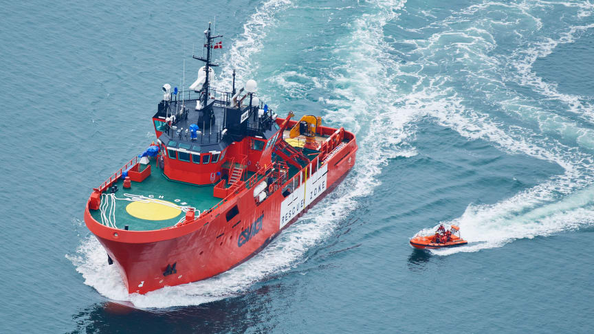The 'Esvagt Castor' will work as standby vessel and man overboard rescue vessel during the building of the offshore wind farm Hornsea 1.