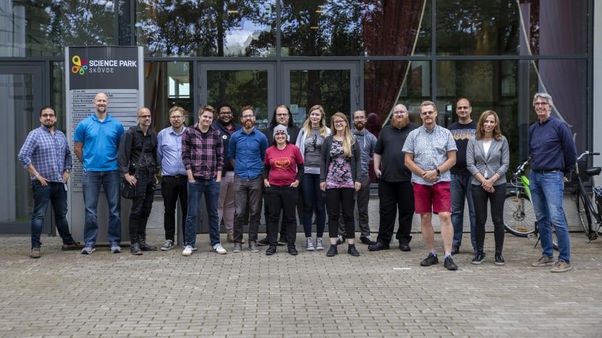 Professorer, doktorander och studenter som deltar i HEVGA Europe Games Research Summer School 2019.