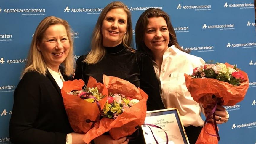 Glada vinnare från ALK Nordic från vänster: Monika Funkenberg, Maria Airey och Anna Nyman Lind