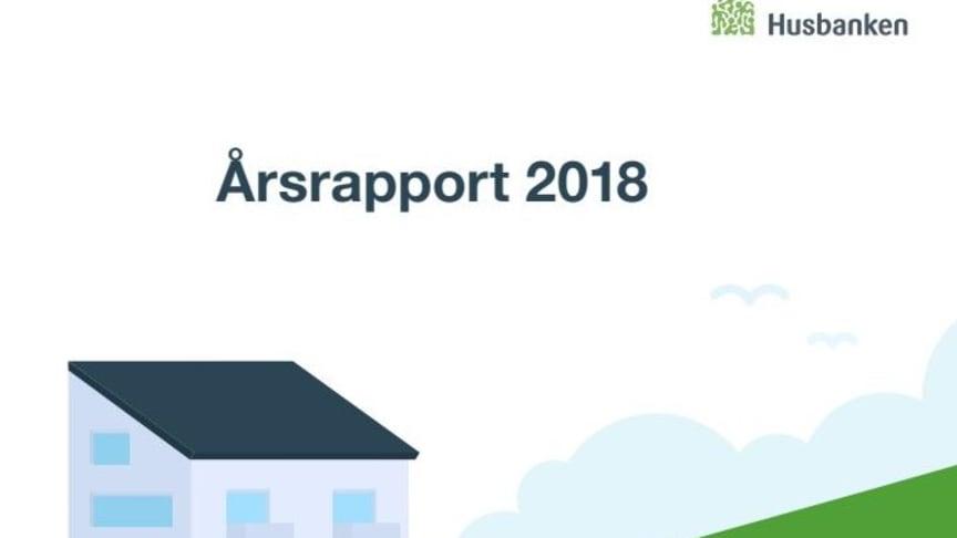 Utsnitt av forsiden på Husbankens årsrapport 2018.
