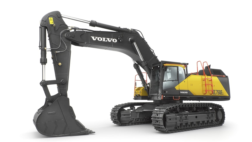 75-tonsmaskinen Volvo EC750E optimerar produktivitet och lönsamhet