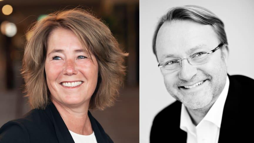 Johanna Frelin, vd, och Tobias Dysenius, försäljningschef.