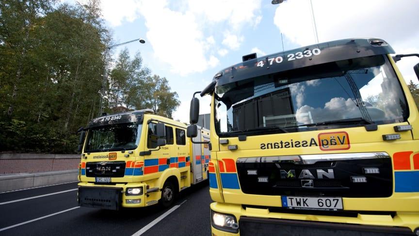 Falck VägAssistans tryggar Stockholmstrafiken i Norra Länken