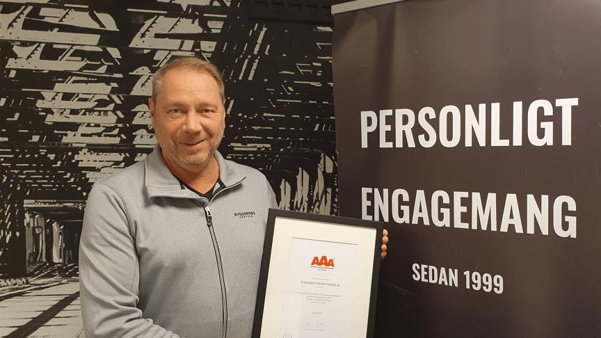 Byggarnas Partners vd Stefan Pageryd med det högsta kreditbetyget.