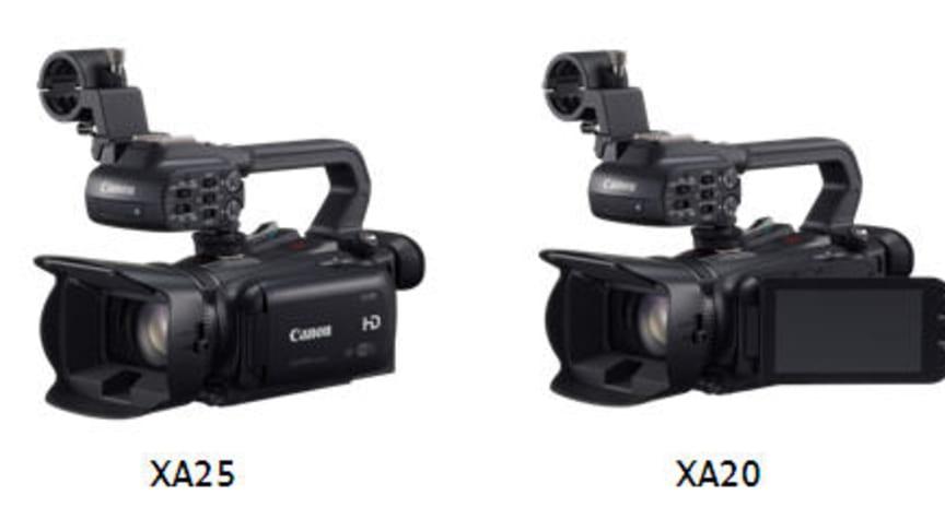 Canon förstärker de kreativa möjligheterna med nya videokameror – XA25, XA20 och LEGRIA HF G30