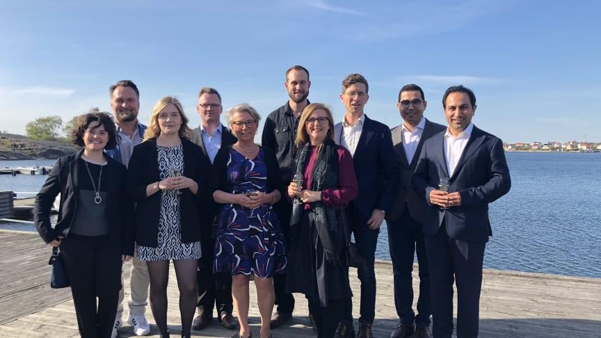 Foto: 2019 års entreprenörsstipendiater vid ceremonin under Sveriges Innovationsriksdag i Karlskrona.