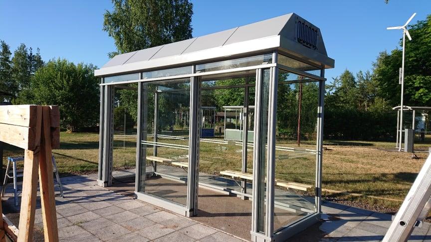 Demoskydd i utställningsparken hos Team Tejbrant Produktion, Hultsfred.