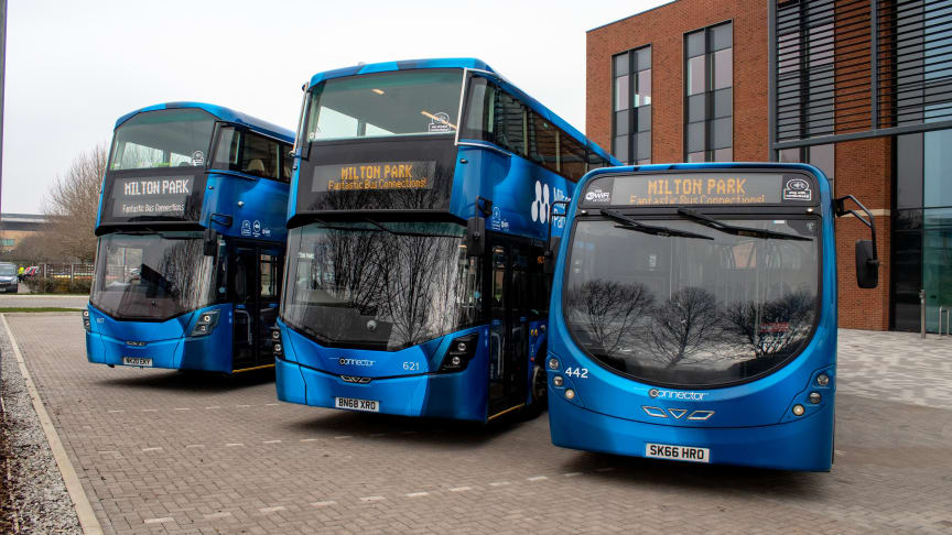 Thames Travel Milton Park branded buses