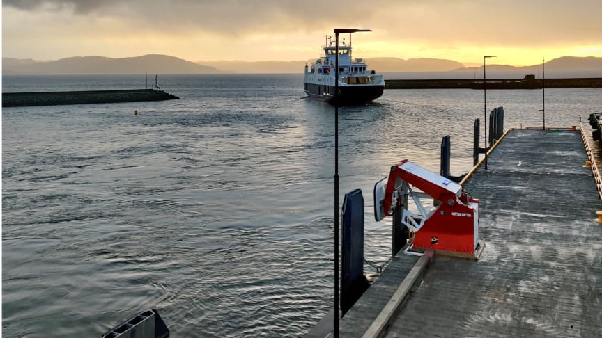 A MoorMaster™ vacuum mooring systems at a ferry application in Norway.
