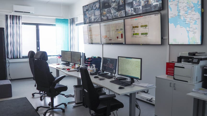 The new automation system enables remote control and monitoring of the treatment process. Photo: Iisalmen Vesi