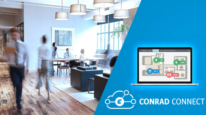 Corona-säkra arbetsplatsen med Conrad Connects IoT-plattform