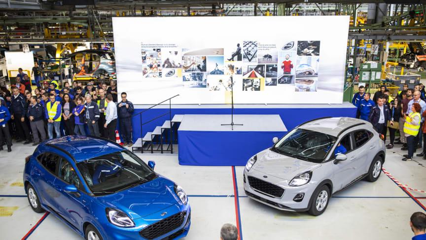 Produksjonen av den nye mild hybrid-SUVen Ford Puma har startet