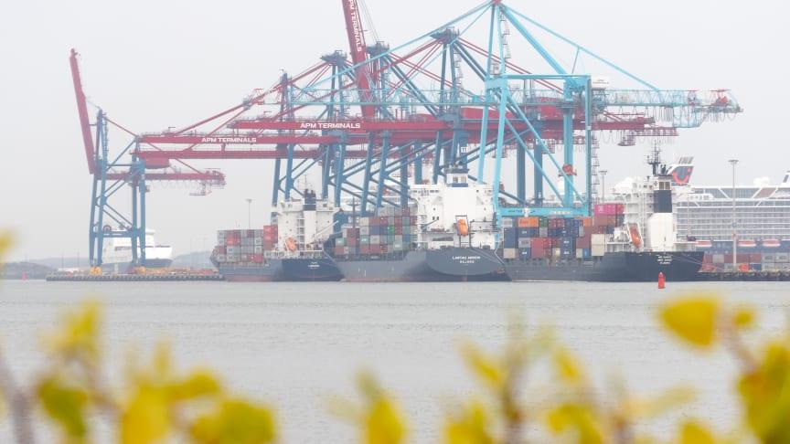 6000 fartyg anlöper Göteborgs hamn varje år. Genom ny teknik ska anlöpen bli effektivare och klimatsmartare. Bild: Göteborgs Hamn AB.