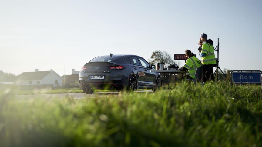 Helt nya Hyundai i30 Fastback N - snabbast från Rom till Paris.