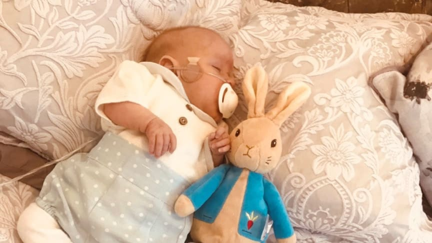 George Bownes was discharged home from the neonatal intensive care unit on 2 January 2019 and is now six and a half months old.