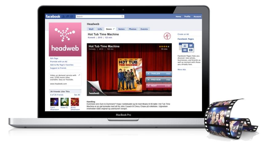 Världspremiär - Headweb öppnar videobutik på Facebook