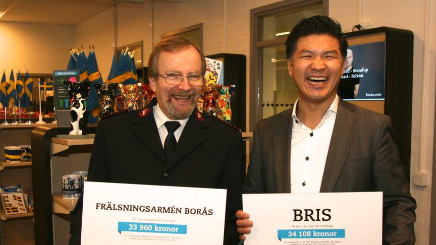 68 068 kr samlades in till välgörenhet under utställningen av United Buddy Bears – The Minis Stora Torget Borås