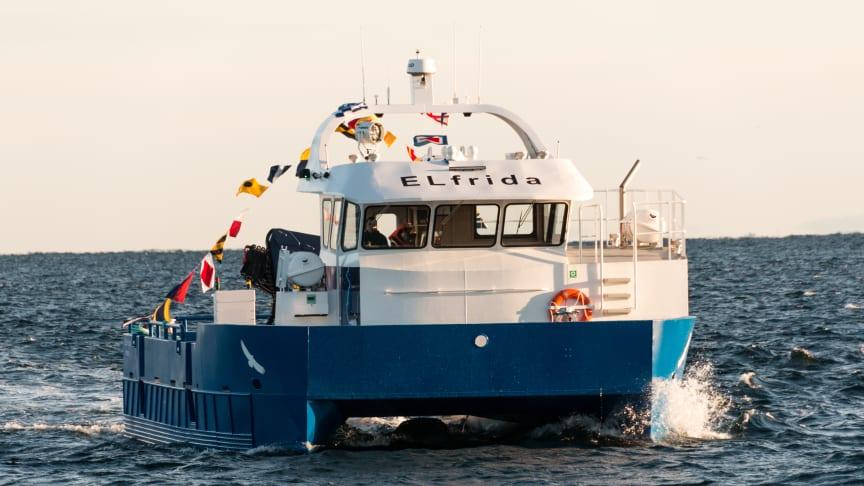 Hybridbåten ELfrida (Foto: Siemens).
