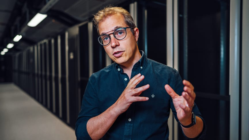 Glenn Johansson, vd på Glesys. Foto: Daniel Jakobsson