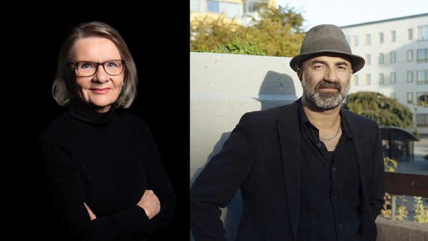 Från vänster: Aino Trosell (foto Lisa Jabar) och Aleksander Motturi (foto Mai Nestor).