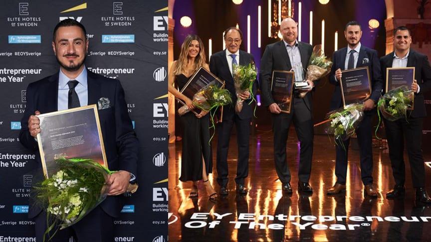 Årets stjärnskott Talal Alshammari och Bianca Ingrosso