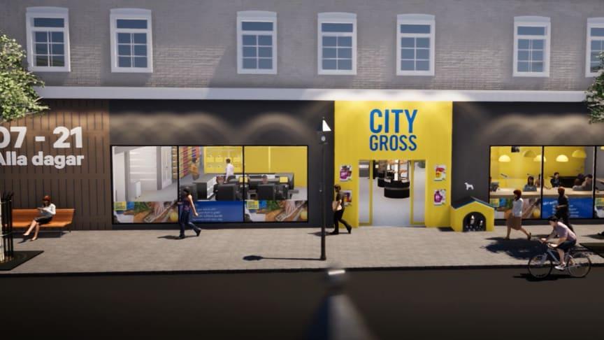 En skissbild över hur City Gross Convenience kan komma att se ut.