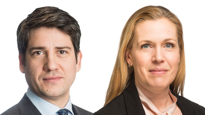 aniel Anderbring, Head of Capital Markets and Sara Vesterlund, Deputy Head pf Capital Markets for Cushman & Wakefield in Sweden.
