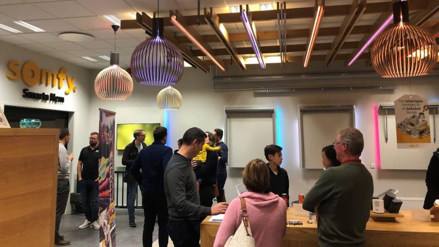Ett välbesökt event hos Somfy för köpare i Kv Härfågeln i Malmö