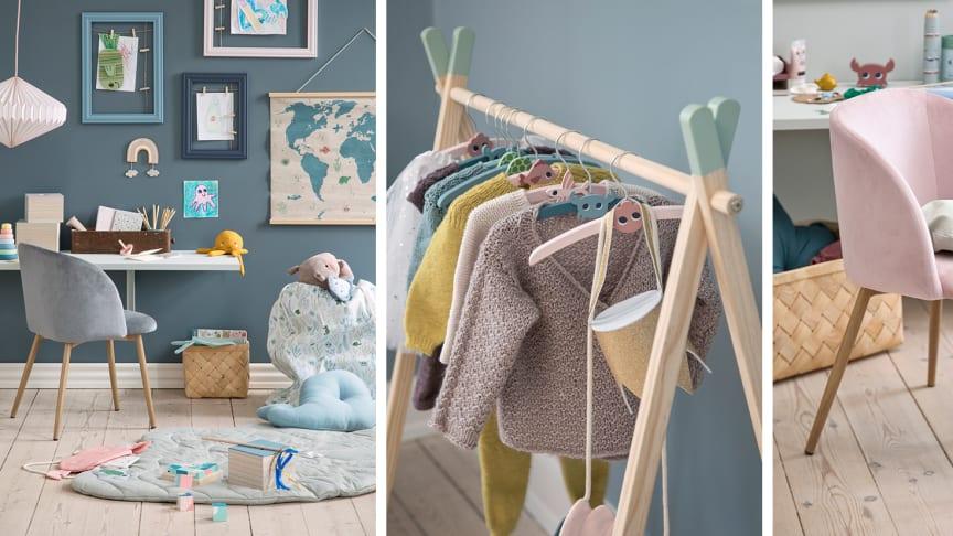 Den nye kollektion med børneinteriør og legetøj lanceres online i Søstrene Grenes nye webshop og i alle butikker torsdag den 28. maj 2020.