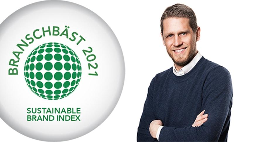 HSB blev branschvinnare i Sustainable Brand Index
