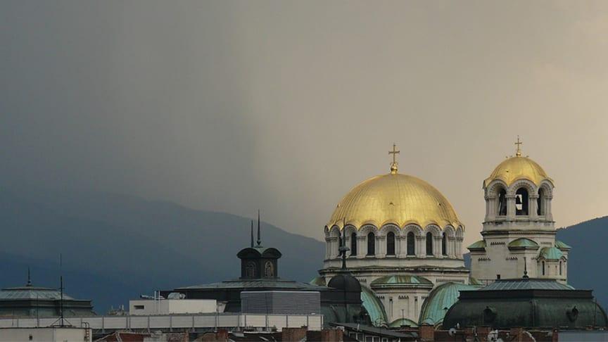 Alexander Nevskij-katedralen i Sofia. Ortodoxa kyrkan är det största samfundet i Bulgarien.