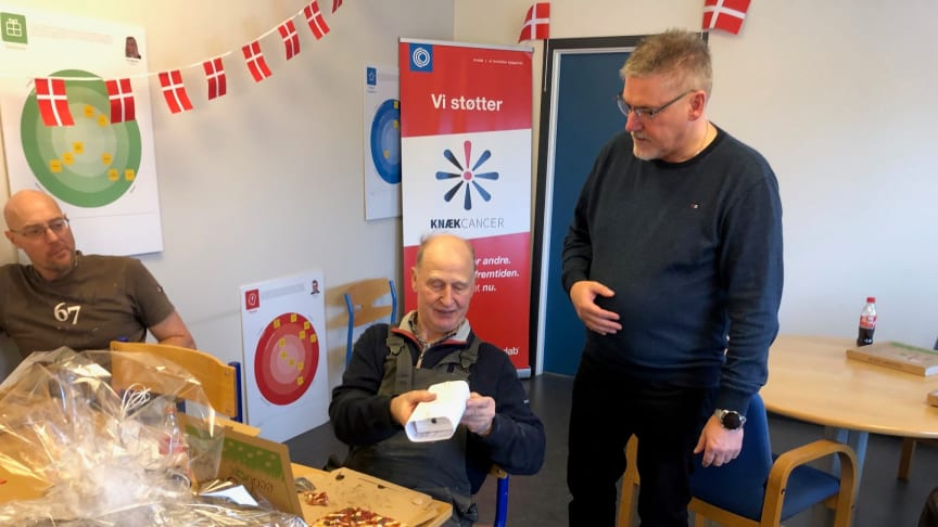 Kurt Pedersen har været ansat i 50 år og har fået Den Kongelige Belønningsmedalje som tak for lang tjeneste og tro tjeneste.