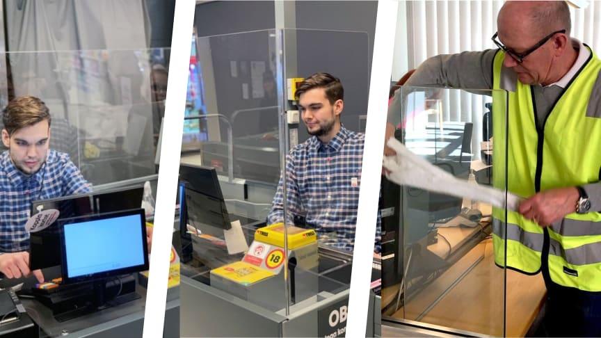 Lokala glasmästerier bistår med olika lösningar för att minska personalens utsatthet
